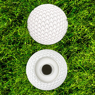 GP001 Golf Ball Design Metal Magnetic Poker Chip