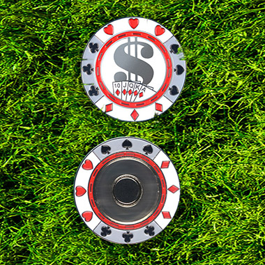 GP003 US Dollar Design Metal Magnetic Golf Poker Chip