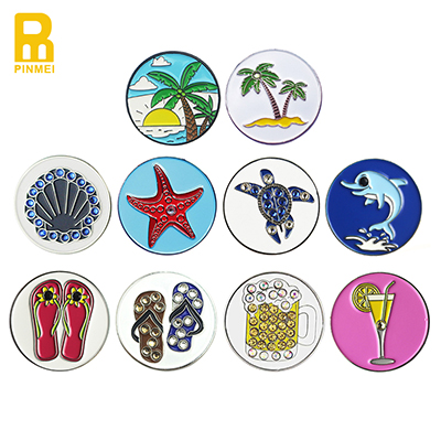 Golf Vocation Beach Style Metal Golf Ball Markers