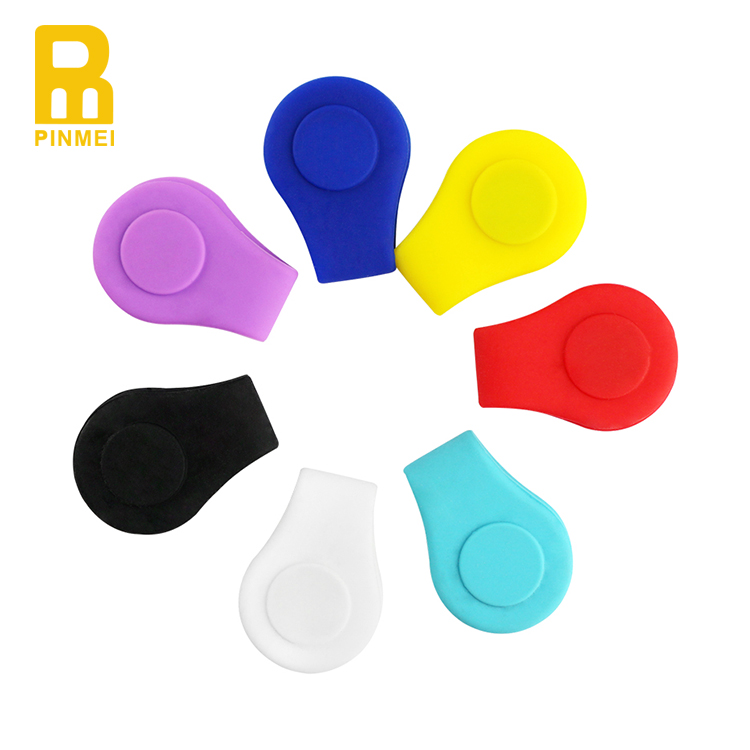 PinMei GH0021 Silicone Magnetic Hat Clips Golf Cap Clip Golf